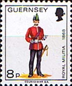 Postage Stamps Guernsey 1974 Military Uniforms SG 108 Officer East Regiment Fine Mint SG 108 Scott 105