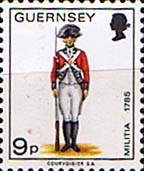 Postage Stamps Guernsey 1974 Military Uniforms SG 109 Private 4th West Regiment Fine Mint Scott 106
