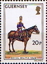 Postage Stamps Guernsey 1974 Military Uniforms SG 111 Driver Field Battery Fine Mint Scott 108