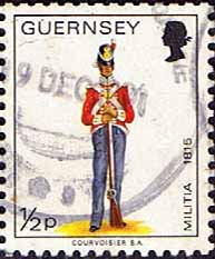 Channel Islands Stamp Stamps Guernsey 1974 Military Uniforms SG 98 Private East Regiment Fine Used Scott 95