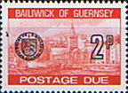 Guernsey 1977 Decimal Post Due SG D 20 Fine Mint