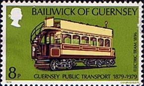 Stamps Guernsey 1979 History of Public Transport Set Fine Mint Scott 191/4