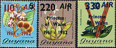 Guyana 1982 Royal Baby Prince William Set Air Mail Fine Mint