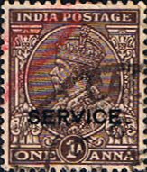 Official Stamps India 1937 King George V Service Fine Used SG O127c Scott O94