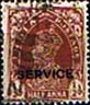 Official Stamps India 1937 King George VI Service Fine Used  SG O135 Scott O97