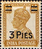 India 1946 King George VI Surcharged SG 282 Fine Mint