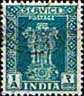 India 1950 Asokan Lion Capital Service SG O154 Fine Used
