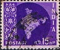 India 1957 Map SG 381a Fine Used