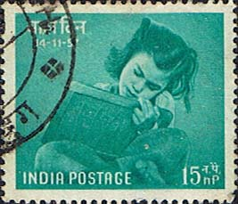 Posage Stamps India SG 390 Chidrens Day Fine Used Scott 293