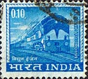 India 1965 SG 509 Electric Train Fine Used