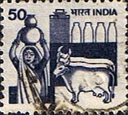 India 1979 SG 927a Woman dairy farmer Cows and Milk Bottles Fine Used