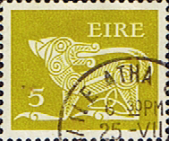 Stamp Decimal Postage Stamps of Eire Ireland 1971 SG 295a Fine Used Scott 298A