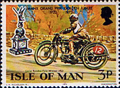 Stamp Postage Stamps Isle of Man 1973 Golden Jubilee of the Manx Grand Prix Set Fine Mint SG 39 Scott 33