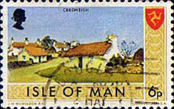 Postage Stamps Isle of Man 1973 Independent Postal Administration SG 23 Fine Used  SG 23 Scott 21