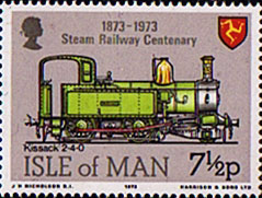 Postage Stamps Isle of Man 1973 Steam Railway Centenary Set Set Fine Mint SG 35 38 Scott 29 32 For Sale