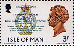 Stamp Postage Stamps Isle of Man 1974 Royal National Lifeboat Institution Fine Mint SG 42 Scott 36