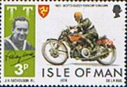 Isle of Man 1974 Tourist Trophy Motorcycle Racing SG 46 Fine Mint