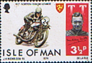 Isle of Man 1974 Tourist Trophy Motorcycle Racing SG 47 Fine Mint