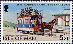 Stamp Postage Stamps Isle of Man 1976 Douglas Horse Trams Centenary Fine Mint SG 80 Scott 82