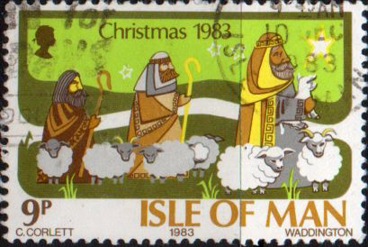 Postage Stamps Isle of Man 1983 Christmas Set Fine Mint