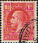 Jamaica 1929 King George V Head SG 108a Die II Fine Used