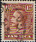 Jamaica 1929 King George V Head SG 109 Fine Used
