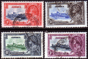 Postage Stamps Jamaica 1935 King George V Silver Jubilee Set Fine Used