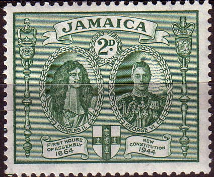 Stamps Jamaica 1945 New Constitution SG 135 Fine Mint Scott 130