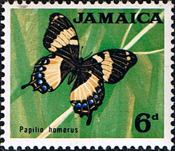 Postage Stamp Stamps Jamaica 1964 SG 223 Butterfly Fine Mint SG 223 Scott 223