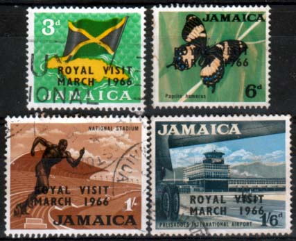 Jamaica Stamps 1966 Royal Visit Set Fine Used