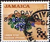 Jamaica 1969 Decimal Currency Overprints SG 280 Fine Used