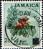 Jamaica 1969 Decimal Currency Overprints SG 281 Fine Used