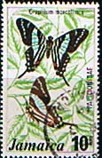 Jamaica 1975 Butterflies SG 401 Fine Used