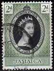 Jamaica Queen Elizabeth II 1953 Coronation Fine Used