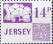 Postage Stamps Jersey 1971 Post Due SG D18 Scott J18 Fine Min