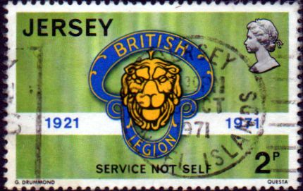 Postage Stamps Stamp Jersey 1971 PRoyal British Legion SG 61 Fine Mint Scott 53