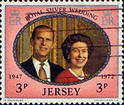 Jersey 1972 Royal Silver Wedding SG 82 Fine Used