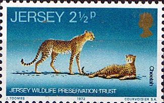 Postage Stamps Stamp Jersey 1972 Wildlife Preservation Trust SG 73 Fine Mint Scott 64