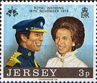 Postage Stamps Stamp Jersey 1973 Royal Wedding SG 85 Fine Mint SG 85 Scott 89