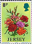 Jersey 1974 Spring Flowers SG 105 Fine Mint