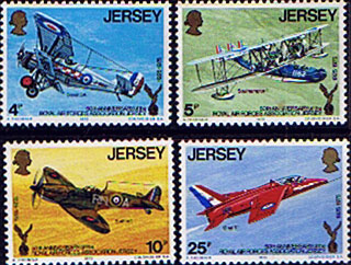 Postage Stamps Stamp Jersey 1975 Royal Air Forces Association Set Fine Mint