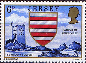 Postage Stamps Stamp Jersey Parish Arms and Views SG 140 Seymour Tower Grouville Fine Mint