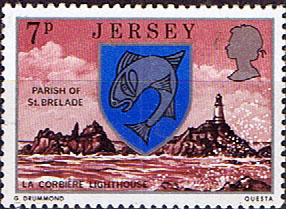 Postage Stamps Stamp Jersey Parish Arms and Views SG 141 S La Corbière Lighthouse St Brelade Fine Mint Scott