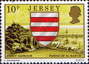 Jersey 1976 Parish Arms and Views SG 144 Fine Mint