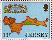 Postage Stamps Post Jersey 1980 Fortresses Set Fine Mint SG 224 Scott