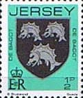 Jersey 1981 Arms of Jersey Families SG 249 Fine Mint