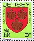 Jersey 1981 Arms of Jersey Families SG 252 Fine Mint