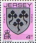 Jersey 1981 Arms of Jersey Families SG 253 Fine Mint