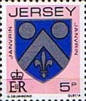 Jersey 1981 Arms of Jersey Families SG 254 Fine Mint