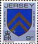 Jersey 1981 Arms of Jersey Families SG 258 Fine Mint